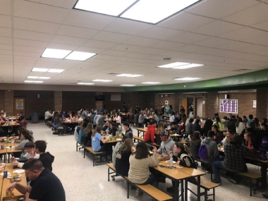 photo of lunchtime at Rowan County HS