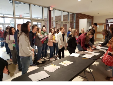Photo of Registration at Magoffin County High School
